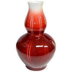 Chinese Sang De Boeuf Oxblood Red Porcelain Vase