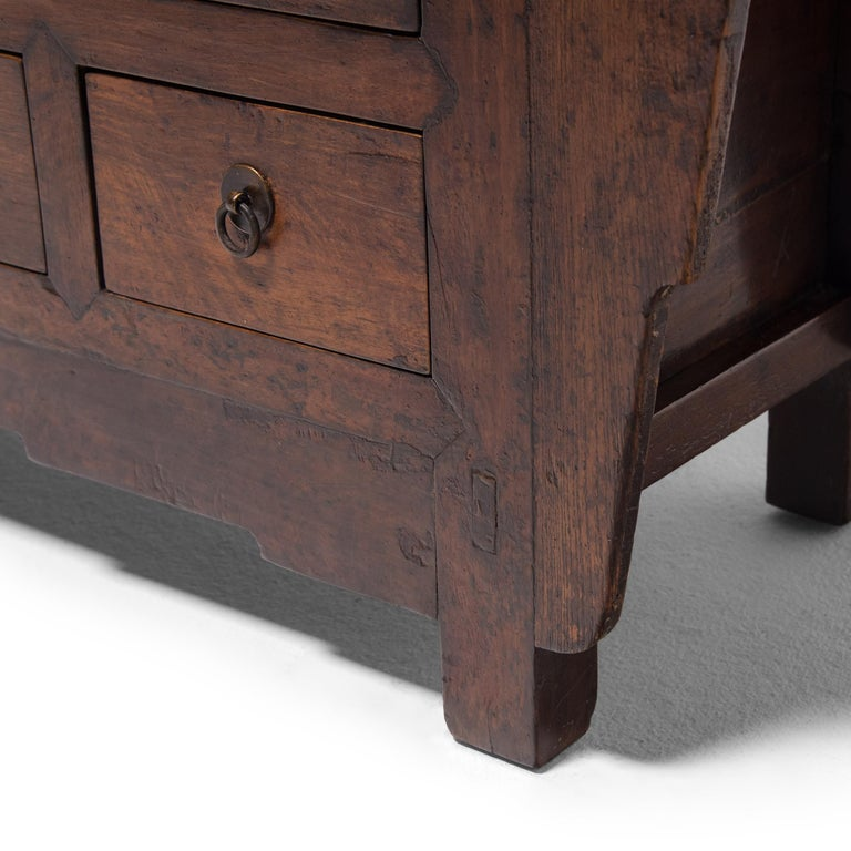 Chinese Seven Drawer Kang Cabinet, c. 1850 For Sale 4
