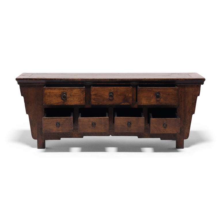 19th Century Chinese Seven Drawer Kang Cabinet, c. 1850 For Sale