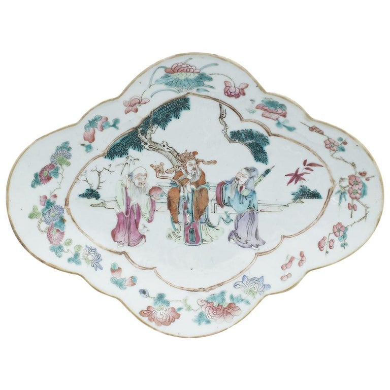 Chinese Shaped-Oval Tray, China, Early 20th Century For Sale