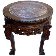 Chinese Short Side Table Mahogany