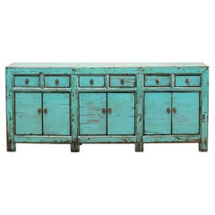 Chinese Sideboard with Six Drawers and Restoration