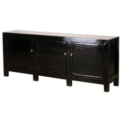 Chinese Sideboard with Three Drawers and Restoration