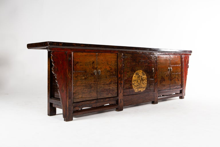 Chinese Sideboard with Three Pairs of Doors For Sale 2