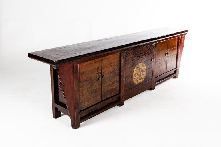Chinese Sideboard with Three Pairs of Doors For Sale 3