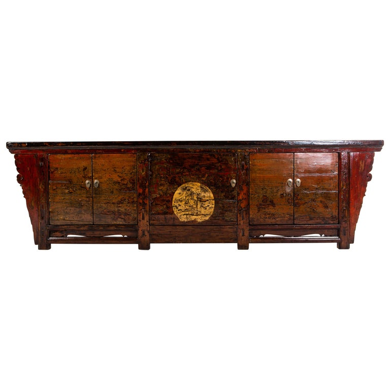 Chinese Sideboard with Three Pairs of Doors For Sale