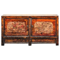 Chinese Sideboard with Two Doors and Restoration