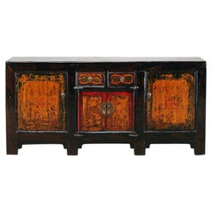 Chinese Sideboard with Two Drawers and Restoration