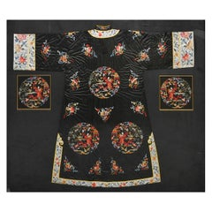 Chinese Silk Coat with Embroidery Design