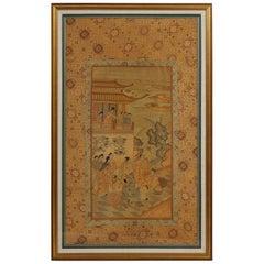 Chinese Silk Woven Panel