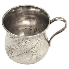 Chinese Silver Christening Mug by Hung Chong, circa 1900