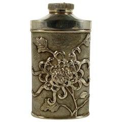 Chinese Silver Talcum Powder Dispenser, Luen Wo, Shanghai, circa 1900