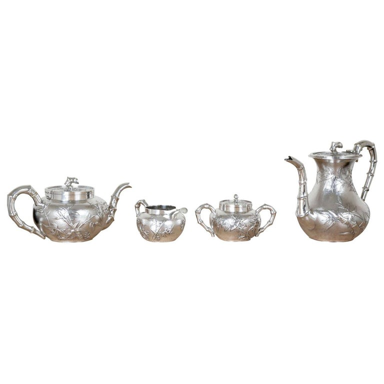 Chinese Silver Tea and Coffee Service For Sale