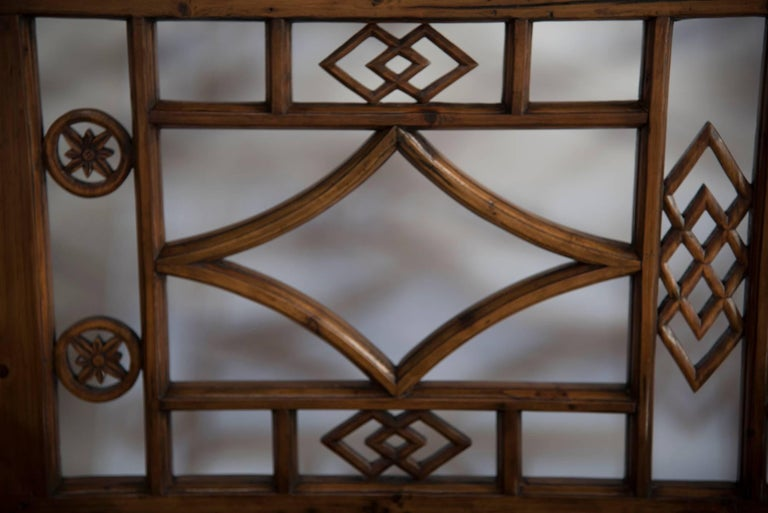 Chinese Six-Panel Lattice Screen For Sale 1