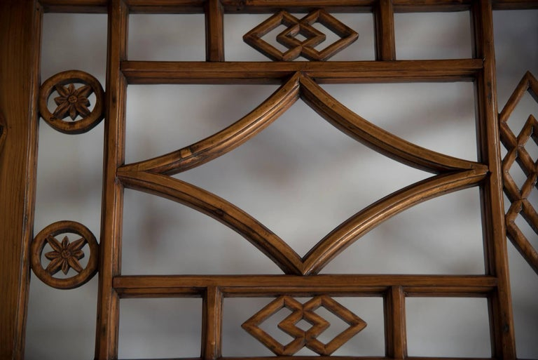 Chinese Six-Panel Lattice Screen For Sale 2