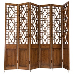 Chinese Six-Panel Lattice Screen For Sale