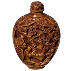 Chinese Snuff Carved Bottle, circa 1930