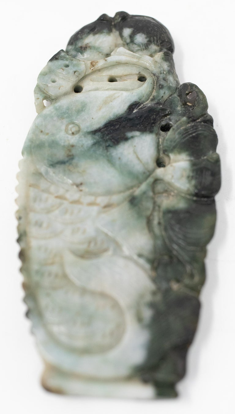 Chinese Soapstone Carving of Koi Fish on Stone Base For Sale 9