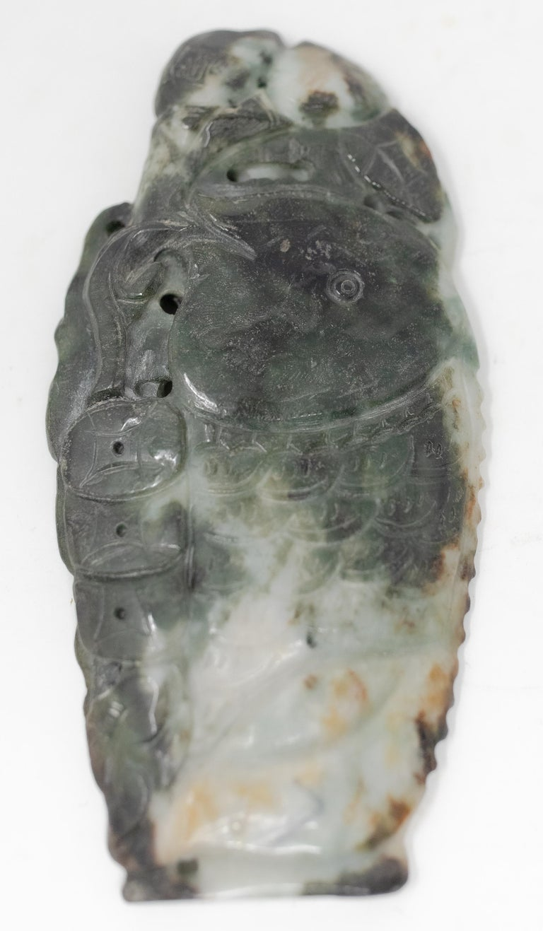 Chinese Soapstone Carving of Koi Fish on Stone Base For Sale 11