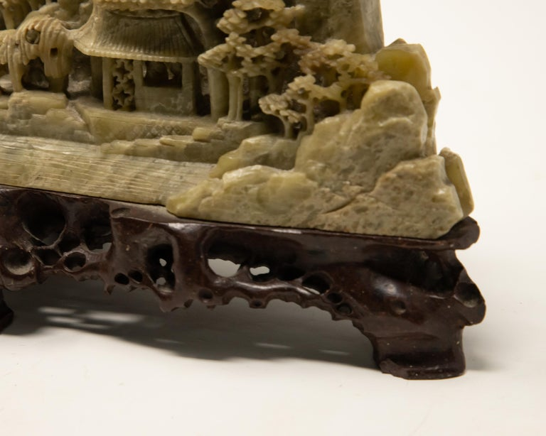 Chinese Soapstone Carving of Landscape For Sale 4
