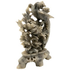 Chinese Soapstone Hand Carved with Phoenix