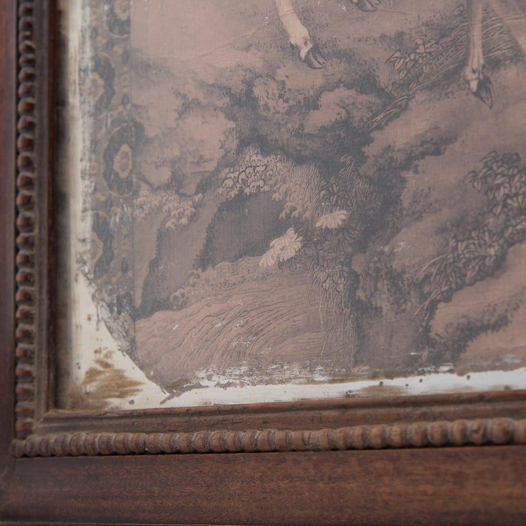 18th Century Chinese Spotted Deer Painting Fragment, Dated 1751 For Sale