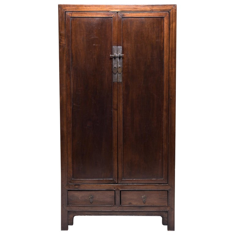 Chinese Square Corner Scholar's Cabinet For Sale