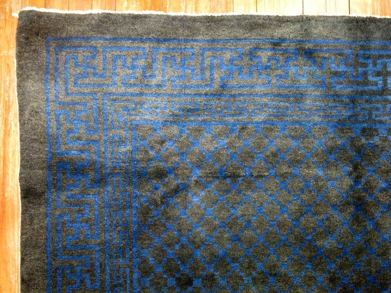 Mid-Century Modern Chinese Square Peking Rug For Sale