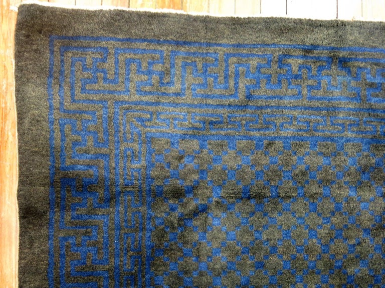 Chinese Square Peking Rug In Excellent Condition For Sale In New York, NY
