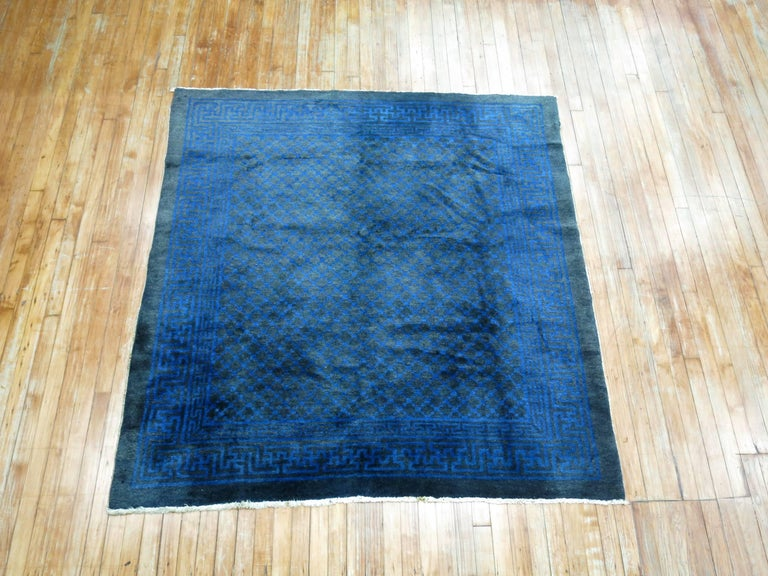 20th Century Chinese Square Peking Rug For Sale