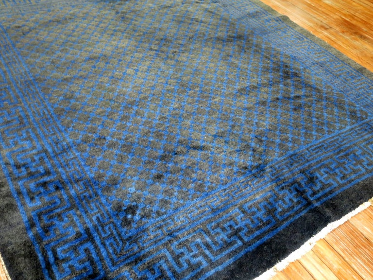 Wool Chinese Square Peking Rug For Sale