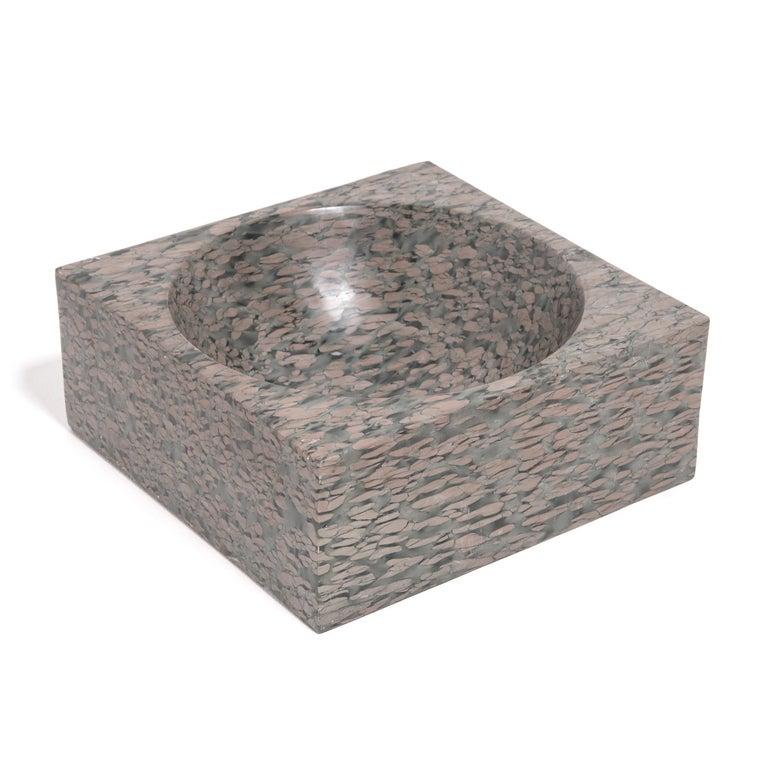Minimalist Chinese Squared Zhenzhu Stone Basin For Sale