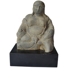 Chinese Stone Figure of a Seated Lohan Ming Dynasty