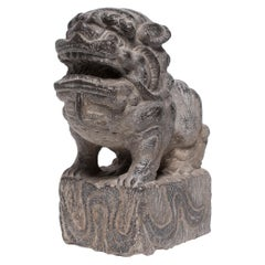 Chinese Stone Fu Dog Guardian Charm