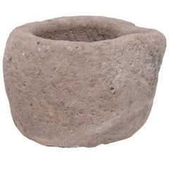 Chinese Stone Garlic Mortar, circa 1900