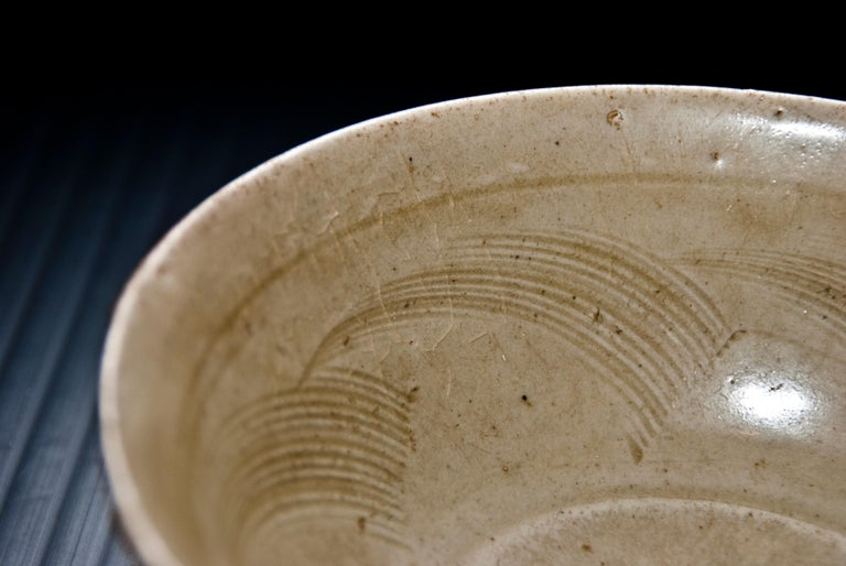Glazed Chinese Stoneware Bowl, Sung Period, 12th-14th Century For Sale