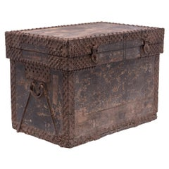 Chinese Studded Ming Traveling Chest, c. 1600