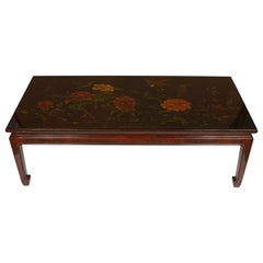 GRACIE Chinese Style Coffee Table with Floral Decoration
