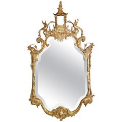 Chinese Style Gold Mirror, 20th Century