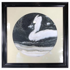 "Chinese Swan Masquerade Extraordinary Natural Stone ""Painting"""