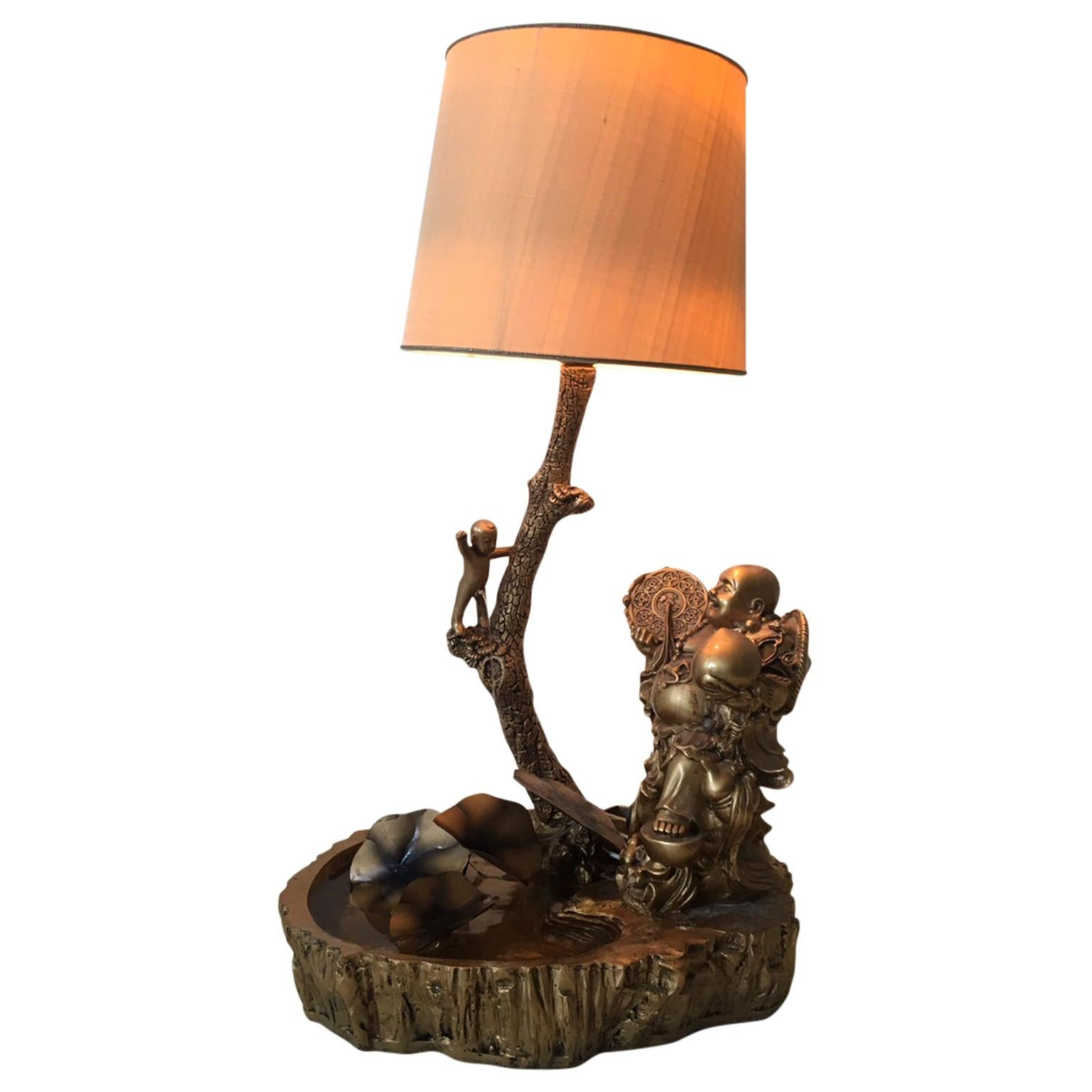 Chinese Table Fountain, Table Lamp, 1960s