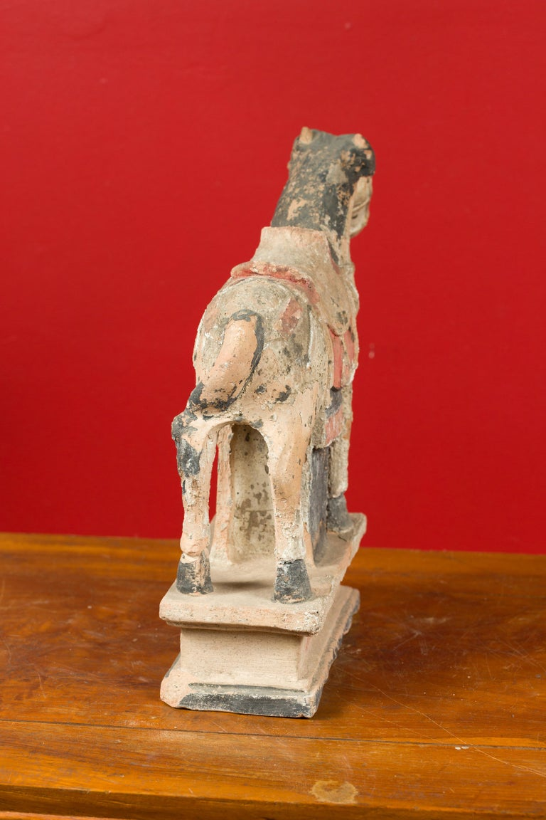 Chinese Tang Dynasty Horse Model circa 618-907 AD with Original Pigmentation For Sale 6