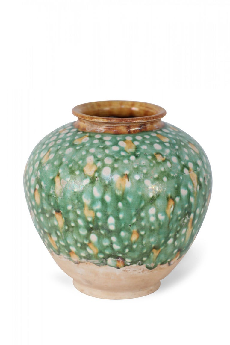 Chinese Export Chinese Tang Dynasty-Style Sancai Glazed Porcelain Vase For Sale