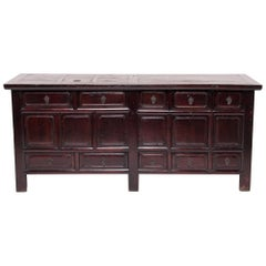 Early 20th Century Chinese Ten-Drawer Lacquered Sideboard