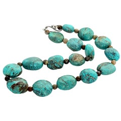 Chinese Turquoise and Labradorite Necklace