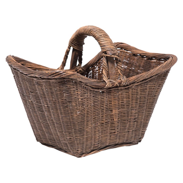 Chinese Twist Woven Market Basket For Sale