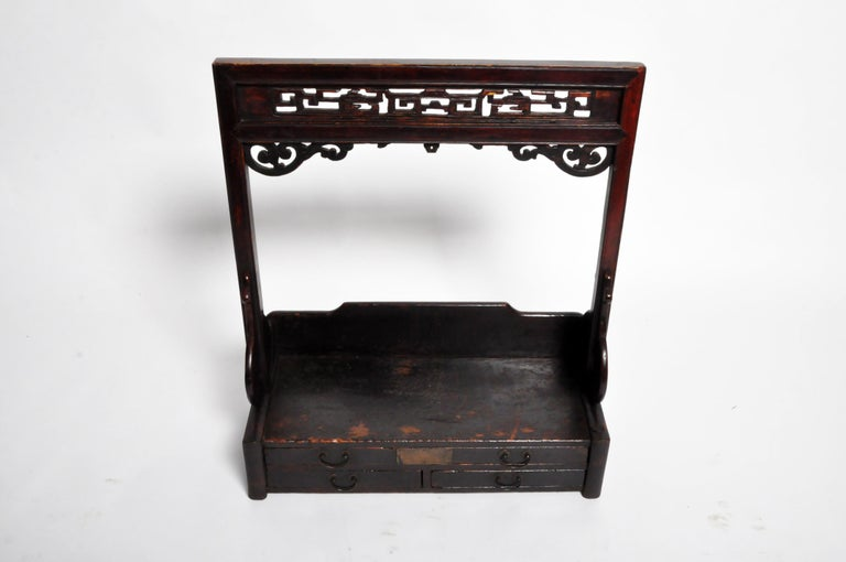 Chinese Vanity Stand with Three Drawers For Sale 9