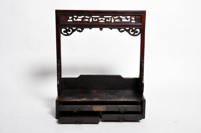 Chinese Vanity Stand with Three Drawers For Sale 11