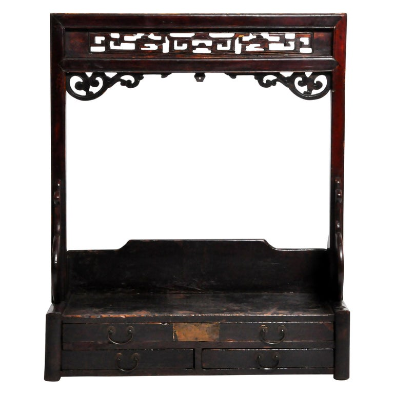 Chinese Vanity Stand with Three Drawers For Sale