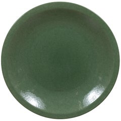 Chinese Vintage Celadon Ceramic Charger Plate from the 1980s